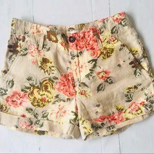 Massimo Dutti Floral Cotton Short